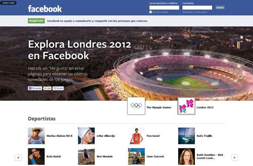 Londres 2012 en Facebook