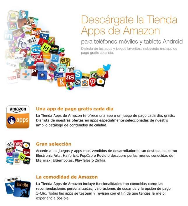 Amazon lanza su tienda de aplicaciones para Android en España