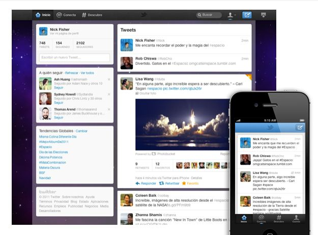 twitter nuevo diseño twitter