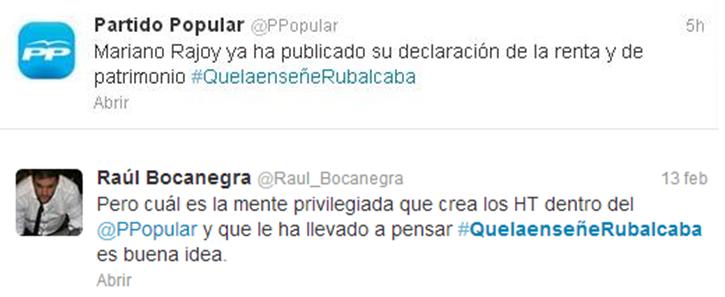#QuelaenseñeRubalcaba