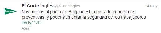 El Corte Inglés Twitter Bangladesh
