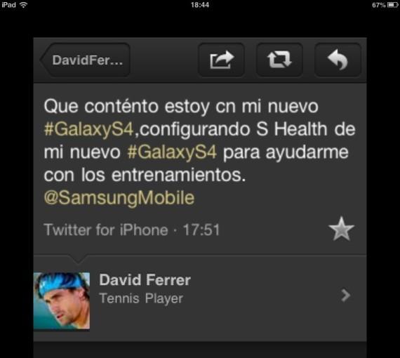 Tweet patrocinado David Ferrer