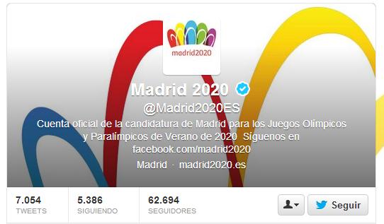 Madrid 2020  en Twitter