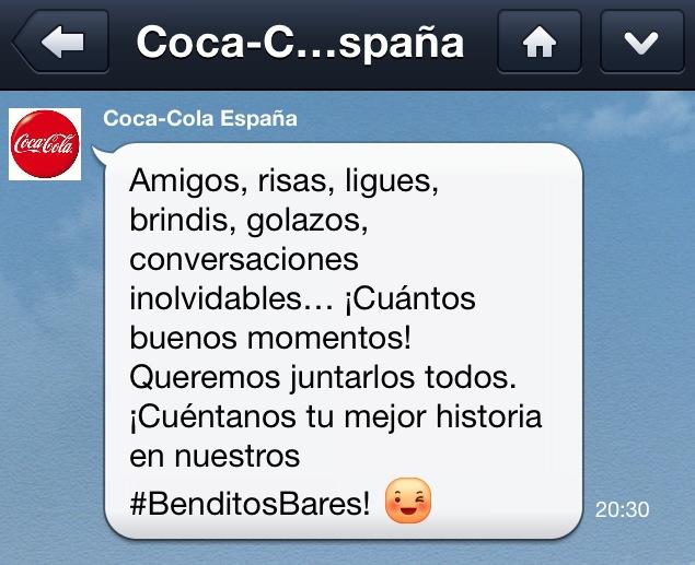 Coca Cola y Line 'Benditos Bares'