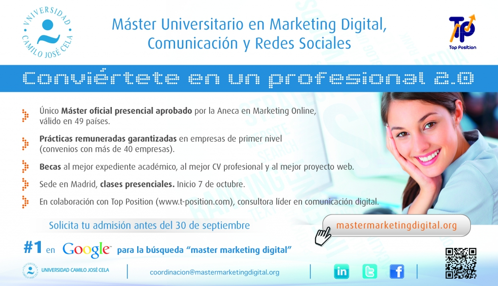 Master Marketing Digital Madrid