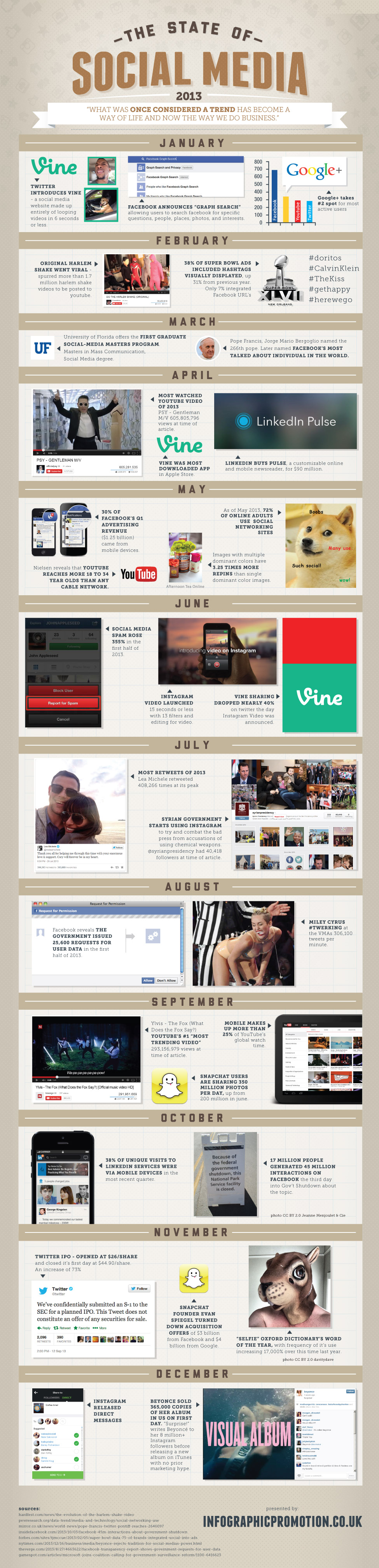 Social Media 2013 - Infografía