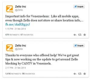 Zello, la app protagonista en las protestas de Venezuela y Ucrania