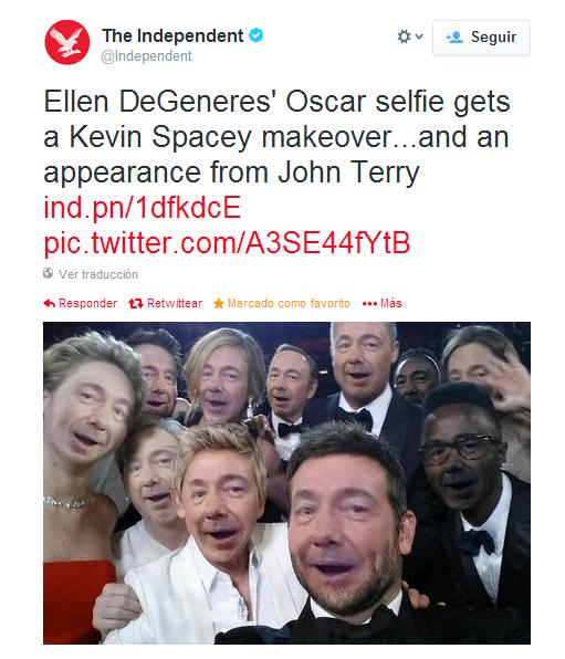 'Selfie' Kevin Spacey