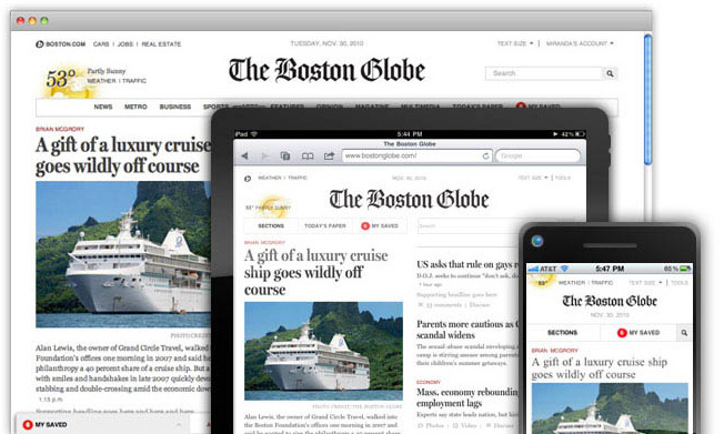 Boston Globe Responsive Design