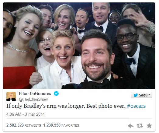 'Selfie' Los Oscar 2014