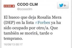 CC.OO. Rosalía Mera