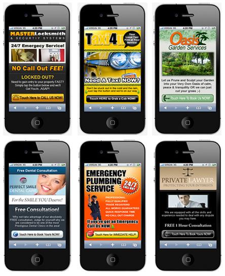 Landing page para móviles