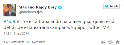 Los 'followers' de Rajoy