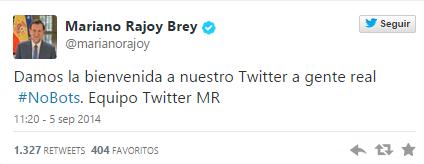 Los 'followers' de Rajoy