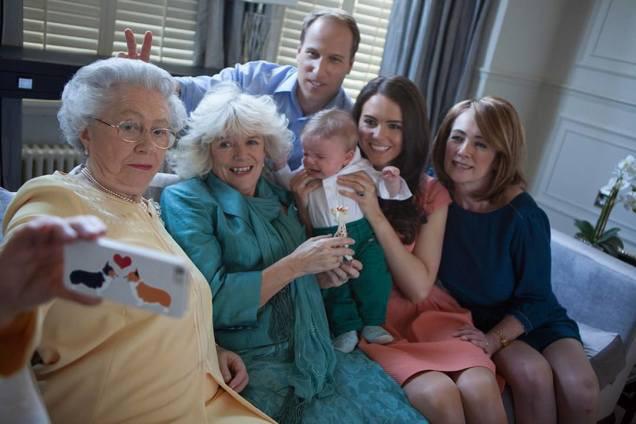 Selfie Familia Real Británica