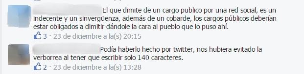 Dimisión Sonia Castedo
