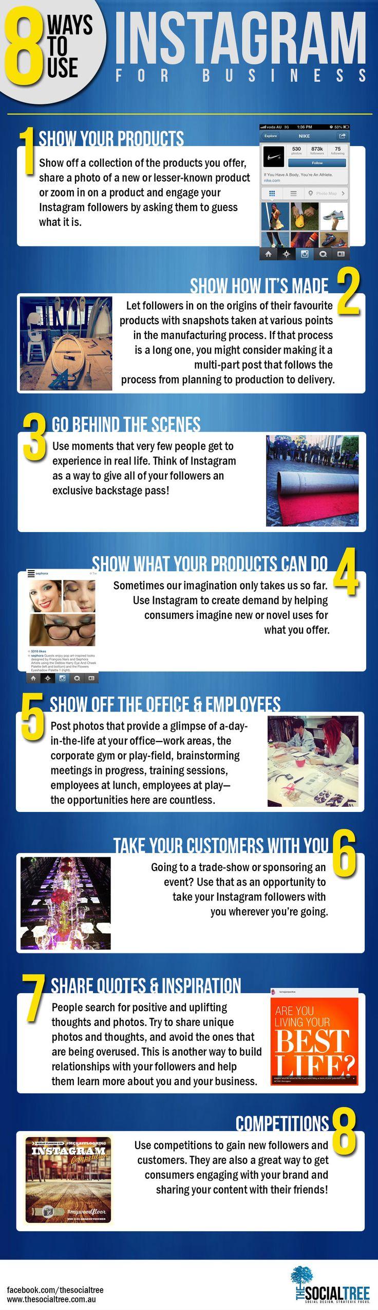 Ocho formas de usar Instagram en los negocios
