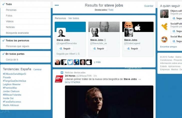 Nuevo diseño para las búsquedas de Twitter