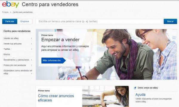 centro para vendedores ebay