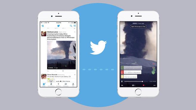 Twitter integra los videos de Periscope a su timeline