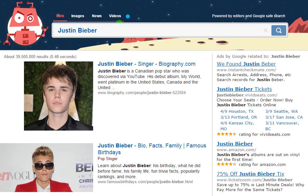 Justin Bieber Kiddle