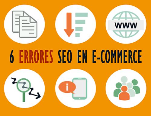 Los 6 errores SEO más comunes en e-commerce