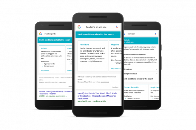 Google diagnosticará a los usuarios que busquen síntomas
