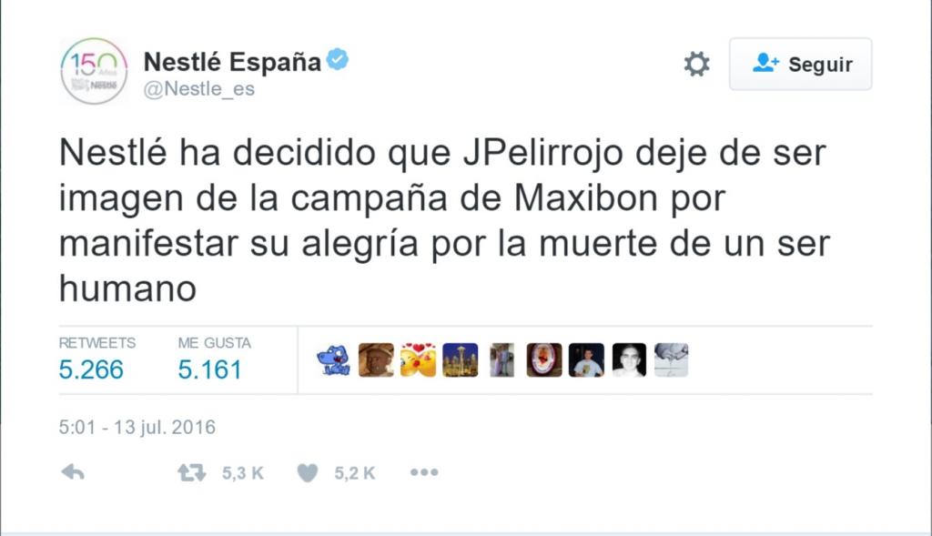 Twitter Nestle JPelirrojo