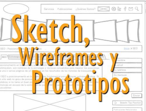 Prototipos, Wireframe o Sketch