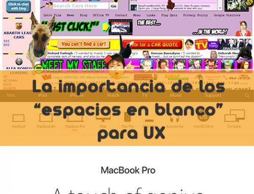 Experiencia de usuario (UX): Los espacios en blanco