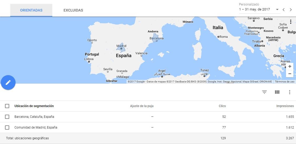 publicidad en google ubicacion