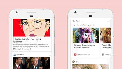 Google actualiza el feed de noticias en base a las necesidades del usuario