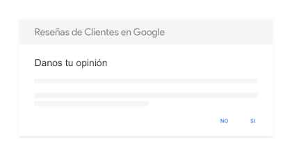 Módulo de participación de ejemplo de Reseñas de Clientes en Google