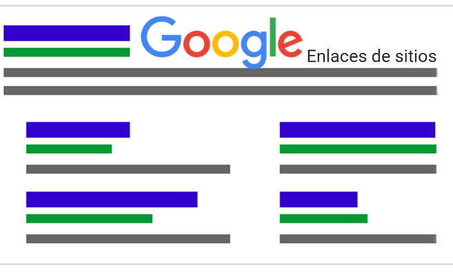 Enlaces de sitio. Google