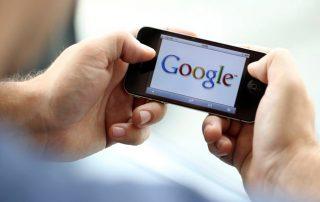 actualización. Google. Velocidad Google