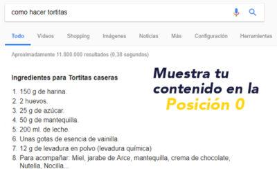 posicion 0 en Google