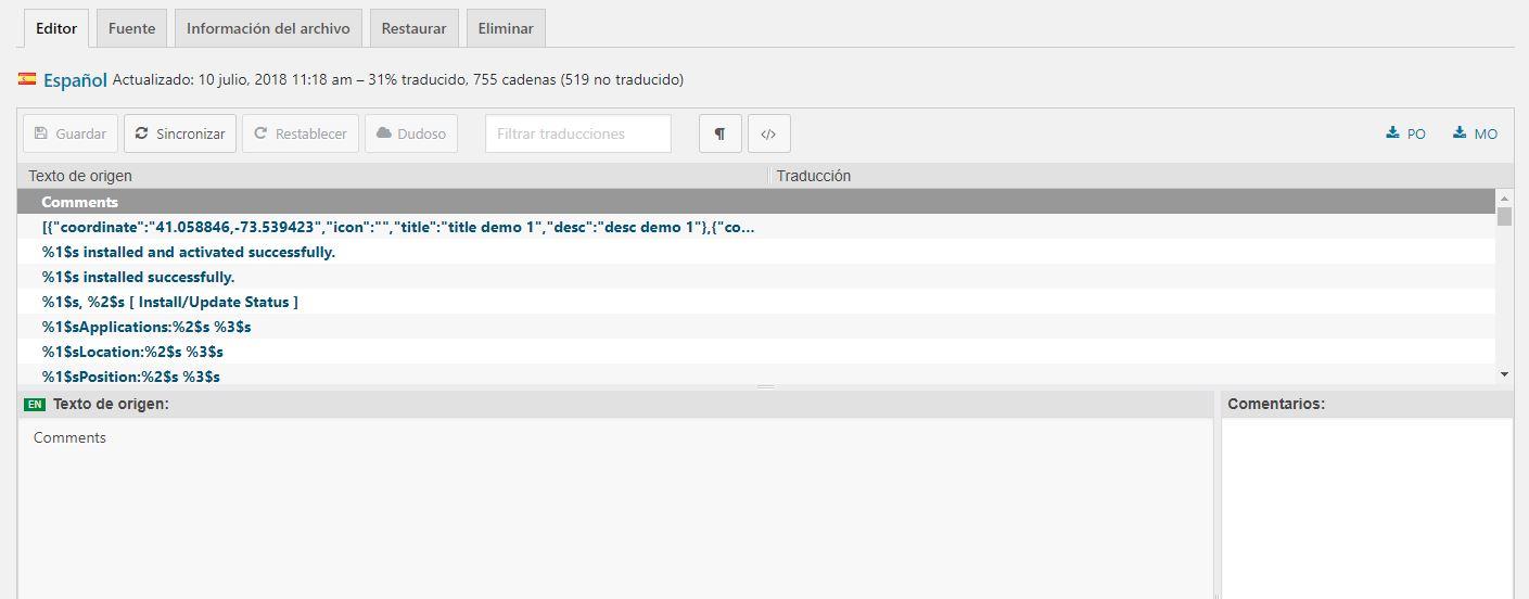 Traducir un tema o plugin de WordPress con Loco Translate