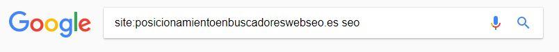 busqueda en sitio web palabra clave