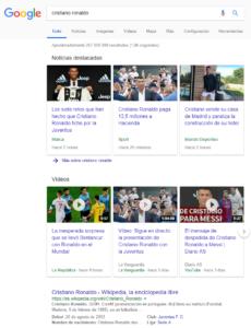 carrusel video en Google