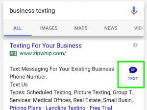 extension de mensaje