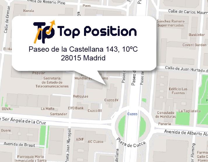 Localización de Top Position en Mapa de la Zona
