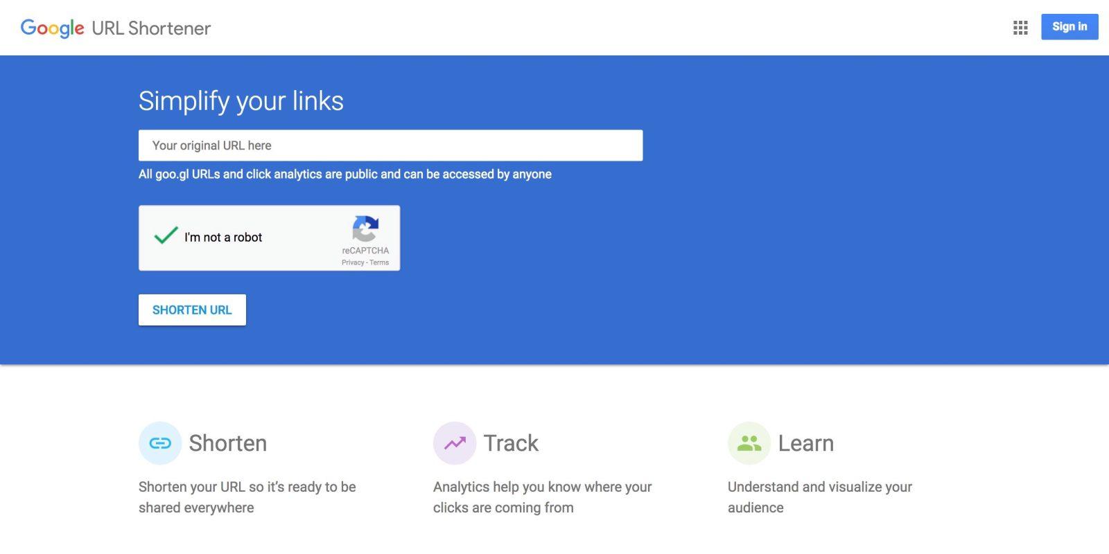 google-url-shortener