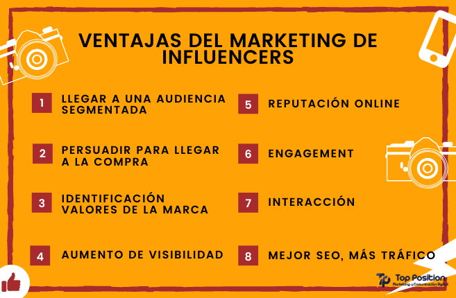 ventajas marketing influencers, ventajas marketing influenciadores, beneficios marketing influencers