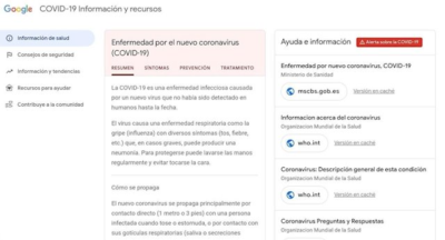 google web coronavirus