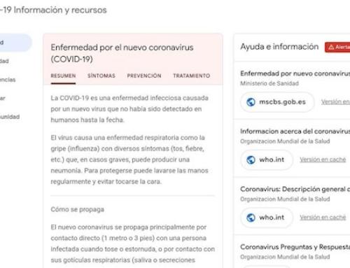 Google lanza una web con información oficial sobre el coronavirus en España